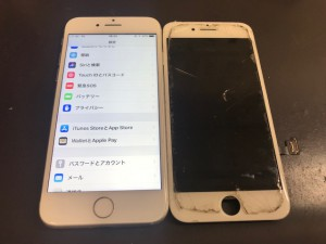 Iphone7 ガラス割れ