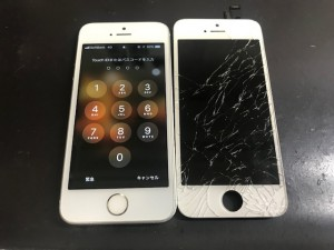 200126 iphone5s ガラス割れ