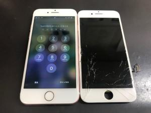 アイフォン7 ガラス修理