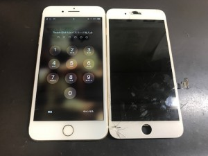 iPhone7 パネル破損