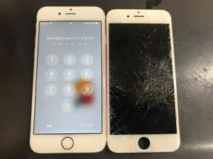 iPhone6s 画面ひび