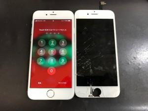 200102iPhone6 ガラス破損
