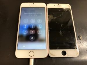 iphone7 パネル破損 191222
