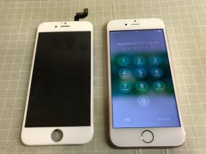 iphone6S 画面水没
