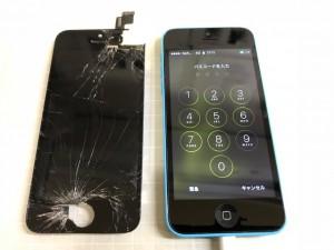 iphone5C 重度破損