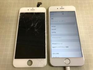 iphone6 ガラス破損 191217