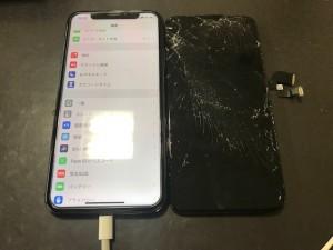 iPhoneX 画面割れ