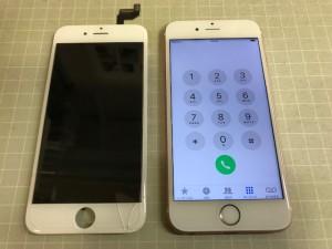 IPHONE6S ひび割れ故障
