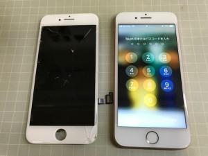iPhone8 ガラス重度