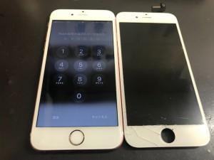 iphone6S ひび割れ修理