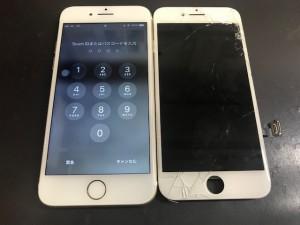 iphone8 ひび割れ