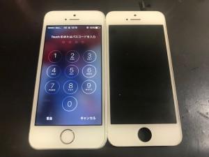 アイフォン5S 表示不良