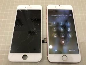 アイフォン8 ガラス破損