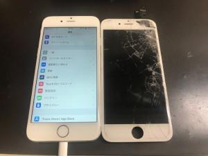 iphone6 ガラス破損修理