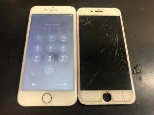 iphone8 ガラス破損