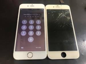アイフォン6 ガラス破損