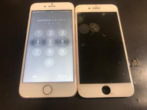 iPhone8 ひび割れ修理