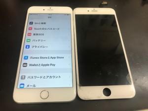 iPhone6+ ガラス修理