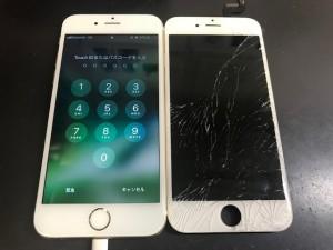 アイフォン6s ガラス割れ