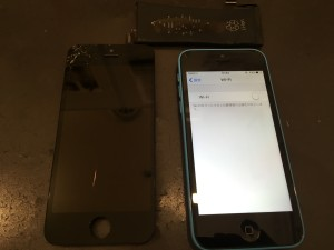 iPhone5c 画面修理