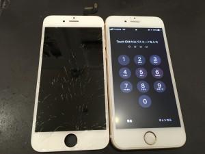 iPhone6s ひび割れ