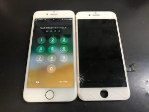 iPhone7 画面ひび割れ