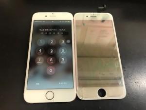 アイフォン6s ガラス修理