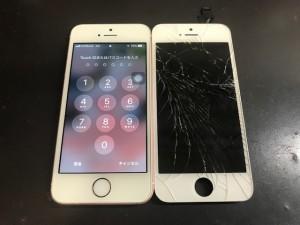 iphoneSE ガラスひび割れ