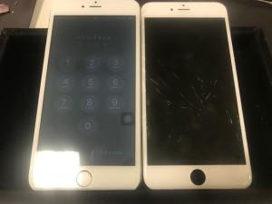 iphone6s+ 画面ひび