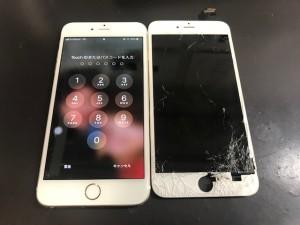 iPhone6+ 画面破損修理
