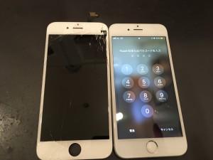 iPhone6の画面割れ