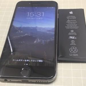 iPhone6s バッテリー交換完了!!!