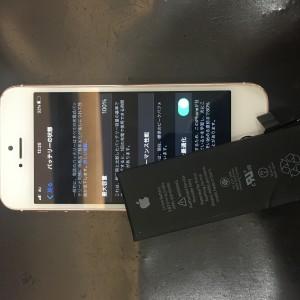 iPhoneSE バッテリー交換完了