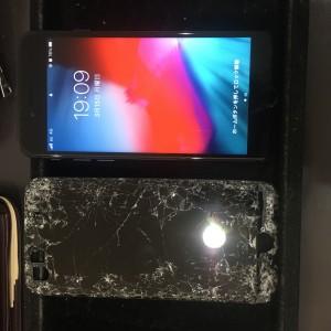 iPhone8 バッキバキから脱出!!!新しい綺麗な画面に