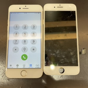 iPhone7 画面割れ 京都河原町最安値 データそのまま修理