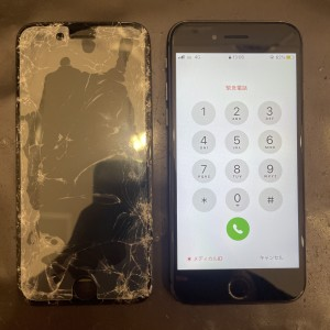 iPhone8 画面修理 河原町最安値 即日修理 データそのまま
