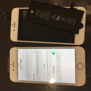 iPhone6sバッテリー+画面交換